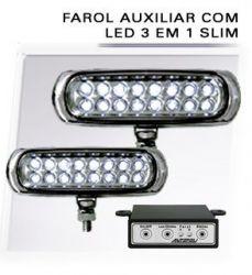 Farol Auxiliar Slim 12V (Varias Cores)